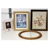 4 Wood Picture Photo Frames Very Nice to New