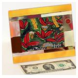 Murano Italy Glass Desk Picture Frame