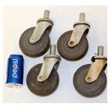 "4 Matching 5"" Swivel Stem Casters Faultless"