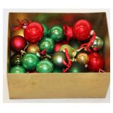 Box of Mainly Plain Glass Globe Christmas Ornament