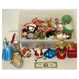 Box of Very Fancy Glass Christmas Ornaments