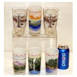 6 Vintage NW Tourist Glasses 2 Space Needle 4 OR
