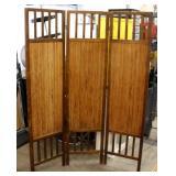 """Wood & Bamboo 70"""" Tall Folding Screen"""