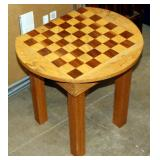 Side Table w Checkers/Chess Pattern