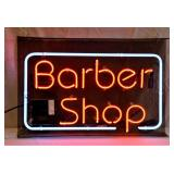 "28"" Neon BARBER SHOP Sign Works Great"
