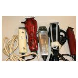 5 Professional Hair Clippers Cutters w Case Lot D