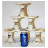 6 New Small Ceramic Pedestals Candle Holders