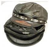 2 Leather Motorcycle Style Caps