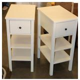 Pair of Matching Side Tables w Drawer