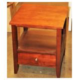 "20"" Sq Wood Side Table w Drawer"