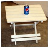 Small Folding Wood Indoor Outdoor Side Table