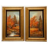Pair of Framed Original Oil Paintings Signed