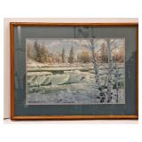 Signed & Numbered LE Framed Winter Print by Miller