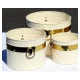 3 NEW Enameled Buckets by Peerage of England