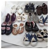 12 Pairs of Baby - Toddler Shoes Sz 1-7