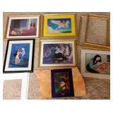 """6 Disney Prints w Frames 12x15"""""""
