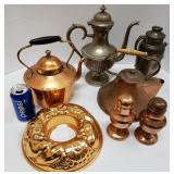 Copper Ware Lot Vintage to Mid-Century