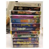 12 VHS Tapes for Kids Disney Scooby Doo Dumbo