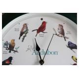 3 Clocks Inc Audubon Bird Notes on Hour Clock