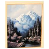 Very Nice Mountain & Stream Print in Frame