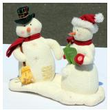 Hallmark Singing Soft Snowmen Man & Woman