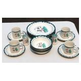 18 Piece Dinnerware for 4 Let It Snow Design