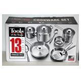 NIB 13 Piece Stainless Steel Cookware Set