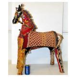 Large Indian Handmade Rajasthan Patchwork Horse