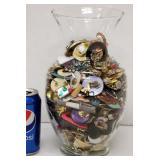 10 Lbs of Mixed Jewelry in Glass Vase