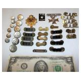 Military Pins & Buttons CAPC, Silver