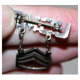 Sterling Silver Military Pins Bars