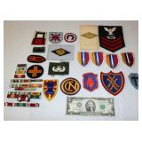 Lot of US Military Patches, Ribbons & Pins