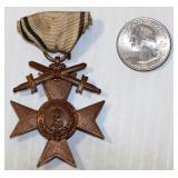 Imperial WWI Medal w Ribbon Bavarian War