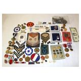 Lot of Military Patches, Pins, Insignias