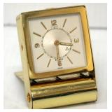 Le Coultre 8 Day Folding Alarm Clock