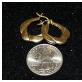 Pair of .925 Silver Hoop Earrings w Gold Finish