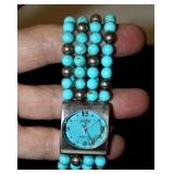 Ecclissi Sterling Silver Turquoise Watch