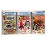 3 Spiderman CGC Graded Comics w Punisher & Chance