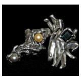 2 Custom Designed Rings Sz 6 & Z