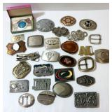 Large Collection of Belt Buckles - Trains to Coins