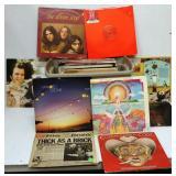 Box of LP Records - Rock & Roll - Cody, Tull,