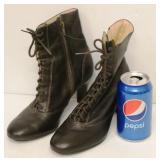 Ann Taylor Loft Brown Leather Boots Sz 5-1/2