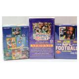 3 Unopened NFL Card Boxes - Fleer, Score, NFL