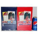 2 Sealed 1990-91 NBA Hoops Cards Boxes Red & Blue