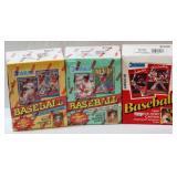 3 Donruss Baseball Card Boxes - 2 Sealed 1990-91