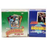 1989 Score & 1990 Topps Sealed Baseball Card Boxes