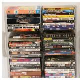 DVDs - 35 Movies & 10 TV Season Boxed in Tub