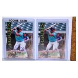 2 Miguel Cabrera 2000 Royal Rookie Cards 1 Signed