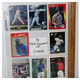8 Ken Griffey Jr Baseball Cards - No Dups