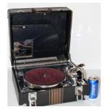 Nickle Plated Excelsior Record Player Hand Crank